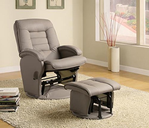 Coaster Home Furnishings Leather-Vinyl Glider Recliner Chair