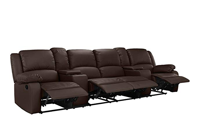 Divano Roma Furniture Home Theater Recliner Couch