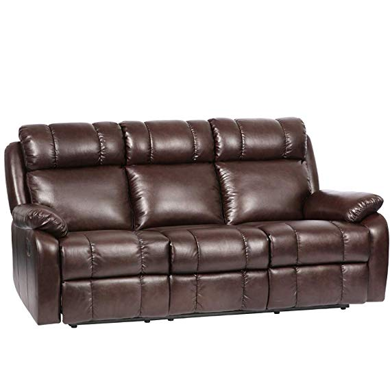 FDW Home Theater Leather Sofa Recliner