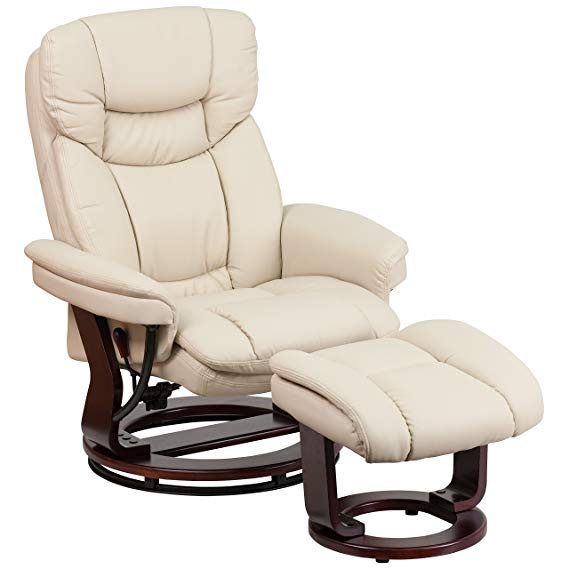 Flash Furniture Contemporary Recliner and Ottoman