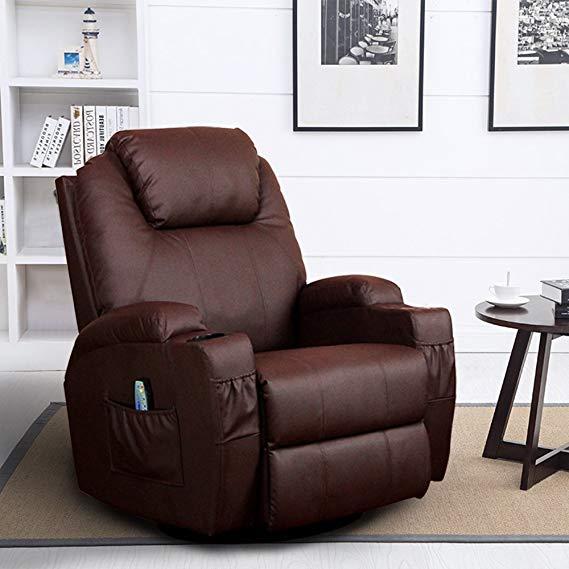 Homedex 360 Degree Swivel Massage Recliner Chair