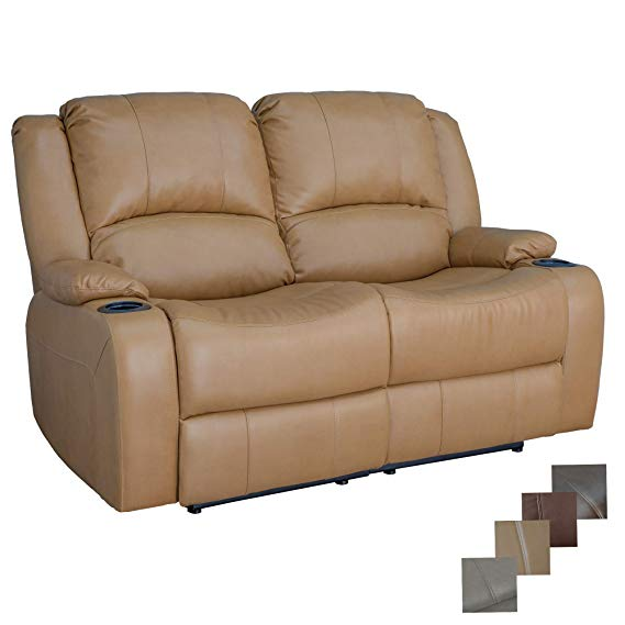 RecPro Charles 58″ Powered Double Recliner Sofa