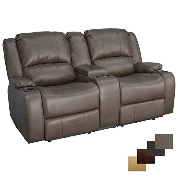 RecPro Charles 67″ Powered Double RV Recliner Sofa