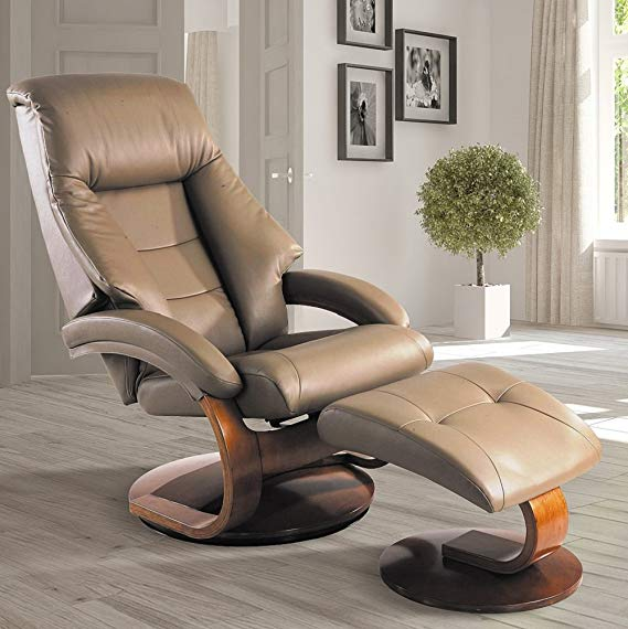 Mac Motion Oslo Collection Mandal Chair and Ottoman Recliner